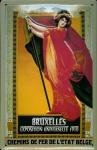 Blechschild Nostalgieschild Bruxelles Exposition Universelle 1910 Weltausstel...