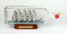 Preussen eckige Ginflasche 0, 7 Liter Buddelschiff Flaschenschiff