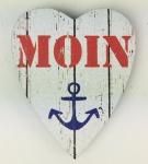 Herz Magnet Holz Moin Anker rot blau Herzmagnet Holzmagnet