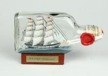 Amerigo Vespucci Buddelschiff Flachmann 0, 1 Liter ca. 13x7 cm Buddel Schiff F...