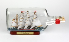 Peking 375 ml Buddelschiff Flachmann ca. 21x9 cm Flaschenschiff