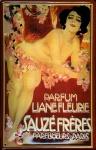 Blechschild Sauzé Frères Parfum Liane Fleurie Parfumeurs Paris Schild retro W...