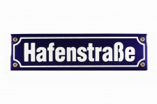 Strassenschild Hafenstraße 30x8 cm Emaille Schild Hamburg St. Pauli Souvenir
