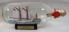 Gloria Schoner mit Landschaft runde Flasche 0, 3 Liter Buddelschiff Flaschensc...