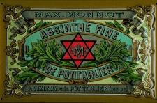 Blechschild Absinthe Fine De Pontarlier Davidstern Frankreich Absinth Schild ...