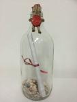 Flaschenpost Einladung mit individuellem Druck in Glasflasche 330 ml / 17 cm