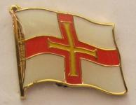 Pin Anstecker Flagge Fahne Guernsey Flaggenpin Button Badge Flaggen Clip Anst...