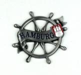 Magnet Steuerrad Tau Silber Titan Hamburg Banderole Wappen Souvenir Mitbrings...