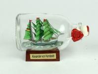 Alexander von Humboldt Mini Buddelschiff 50 ml ca. 7, 2 x 4, 5 cm Flaschenschiff