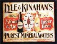 Blechschild Lyle & Kinahans Stout Ale Bier Beer Mineralwasser retro Schild No...