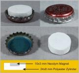 Magnet - Einsatz für Kronkorken 2 Stück