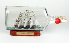 Cutty Sark Buddelschiff 375 ml Flachmann ca. 21x9 cm Buddelschiff Flaschenschiff
