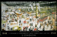 Blechschild Nostalgieschild Waterloo Station London 1848 Eisenbahn