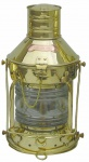 Schiffslampe Ankerlaterne Messing für Petroleumbetrieb 36 cm
