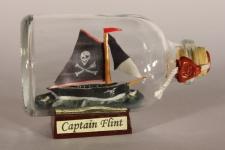 Piratenschiff CAPTAIN FLINT Mini Buddelschiff 50 ml ca. 7, 2 x 4, 5 cm Flaschen...