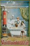 Blechschild Nostalgieschild Vaillant 1908/09 Badeofen