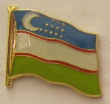 Usbekistan Pin Anstecker Flagge Fahne Nationalflagge