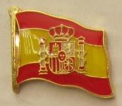Pin Anstecker Flagge Fahne Spanien mit Wappen Nationalflagge
