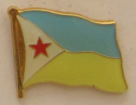Dschibuti Pin Anstecker Flagge Fahne Nationalflagge