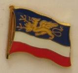 Pin Anstecker Flagge Fahne Rostock Stadtflagge