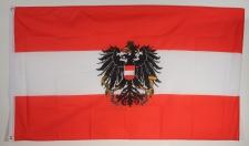 Flagge Fahne : Oesterreich mit Adler Wappen Österreich