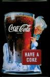 Blechschild Coca Cola Have a Coke Glas Eiswürfel Nostalgie Schild retro Rekla...