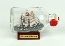 Rickmer Rickmers Mini Buddelschiff 50 ml ca. 7, 2 x 4, 5 cm Flaschenschiff