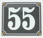 2-stelliges Wetterfestes Emaille Hausnummernschild mit Wunschzahl Wunschtext ...
