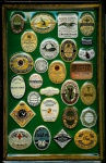 Blechschild Guinness Bier framed Labels 1 grün Schild Werbeschild