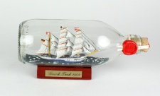 Gorch Fock runde Flasche 0, 3 Liter Buddelschiff Flaschenschiff