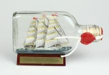 Schulschiff Deutschland Buddelschiff Flachmann 0, 1 Liter ca. 13x7 cm Buddelsc...