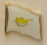 Pin Anstecker Flagge Fahne Zypern Nationalflagge