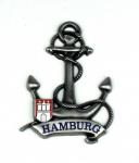 Magnet Anker Tau Silber Titan Hamburg Banderole Wappen Souvenir Mitbringsel G...