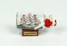 Schulschiff Deutschland Mini Buddelschiff 10 ml 5x2 cm Flaschenschiff