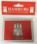 Magnet silber Metall geprägt Hamburg Wappen Souvenir Mitbringsel Geschenk Deko