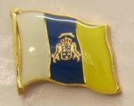 Pin Anstecker Flagge Fahne Kanaren Kanarische Inseln Spanien