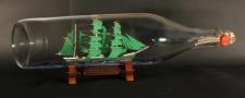 Alexander von Humboldt 3 Liter runde Asbach - Flasche Buddelschiff Flaschensc...