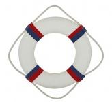 Rettungsring Deko rot / blau / weiß 35 cm Styropor mit Stoff