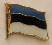 Pin Anstecker Flagge Fahne Estland Nationalflagge Flaggenpin Button Badge Fla...