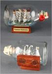 Buddelschiff Rickmer Rickmers 7, 2x4, 5 cm Kühlschrankmagnet mit 2 Stück 10x3 m...
