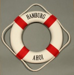 Rettungsring Deko rot 15cm Hamburg Ahoi