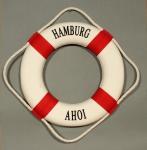 Rettungsring Deko rot 25cm Hamburg Ahoi