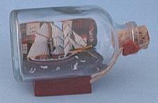 Brigantine mit Landschaft Mini Buddelschiff 50 ml ca. 7, 2 x 4, 5 cm Flaschensc...