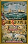 Blechschild Berlin Kopenhagen Schiff Kaiserliche Deutsche Post Schild Nostalg...