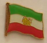 Iran mit Löwe Iran Royal Pin Anstecker Flagge Fahne Nationalflagge