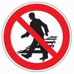 Aluminium Verbotsschild Betreten der Gleisanlagen verboten 200 mm / 0, 6 mm Alu