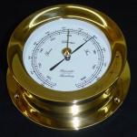Schiffsbarometer 118 mm Messing schwer