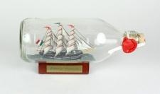 Amerigo Vespucci Italien runde Flasche 0, 3 Liter Buddelschiff Flaschenschiff