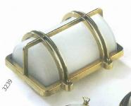 Gitterlampe Messing rechteckig 26x21 cm 220 Volt (CHROM)