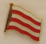 Pin Anstecker Flagge Fahne Wismar Ostsee Stadtflagge